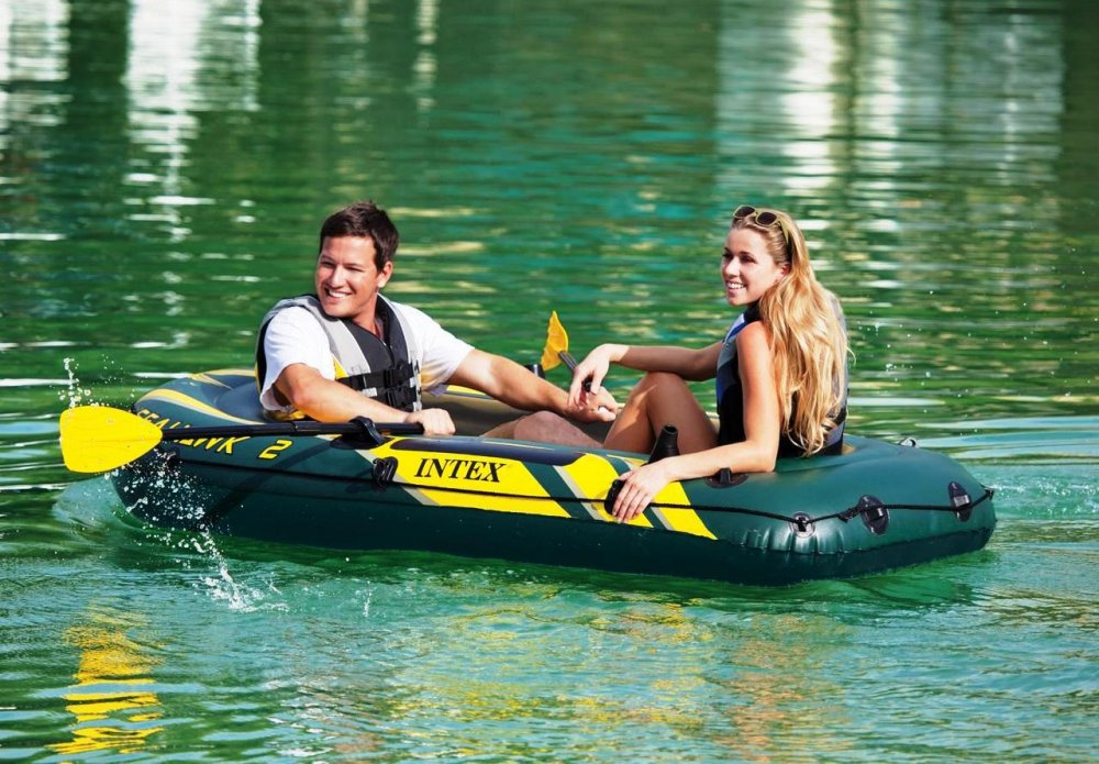 Купить Двухместная надувная лодка Intex 68347 Seahawk 2 Set
