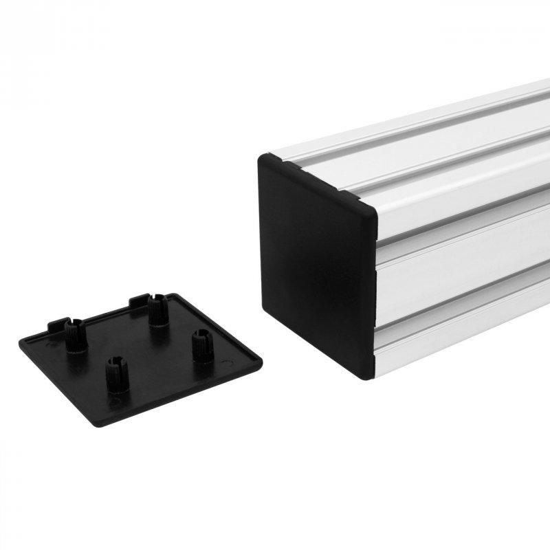 Купить Заглушка торцевая двухпазовая 60х60 для алюминиевого профиля, пластиковая заглушка для защиты профиля