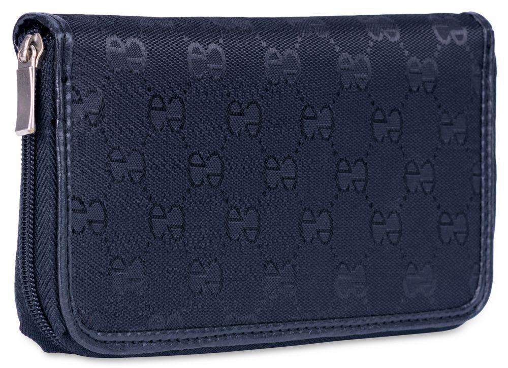 Купить Практичный женский кошелек-клатч чёрного цвета пр. Польша PS49E