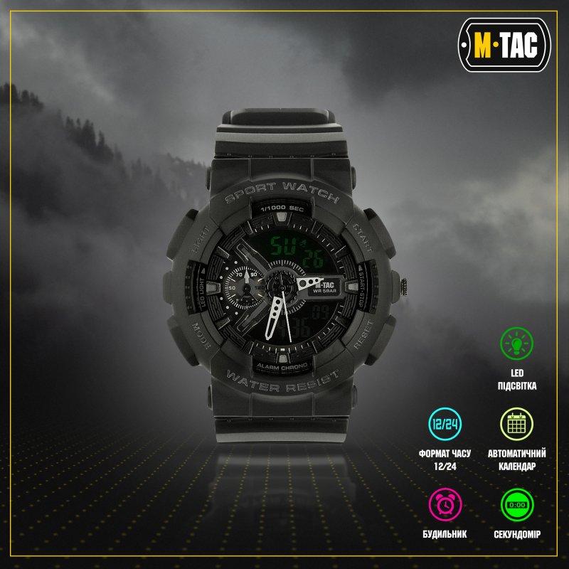 Купить M-Tac часы Sport Black