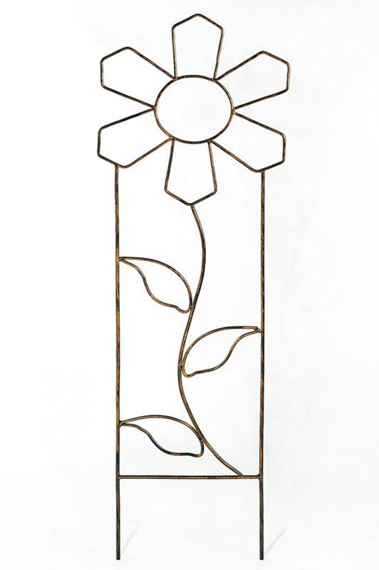 Опора кованая для вьющихся растений «Цветок» (H = 1300 mm)