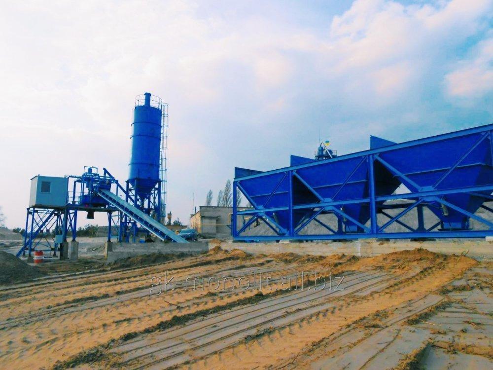 Стационарный бетонный узел АБСУ-80 (конвейер)