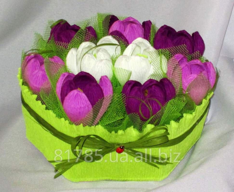 Невесты, подарки цветы в корзине своими руками из бумаги