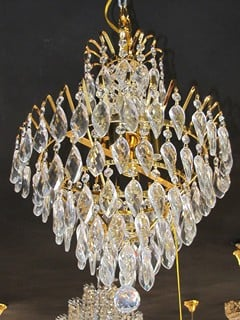 Buy Chandeliers with crystal suspension brackets