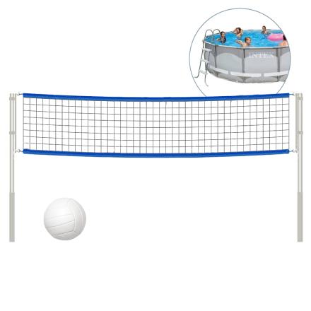 Купить Сетка для волейбола (с крепежами и стойками) Intex 58951 для круглых бассейнов размерами 488 см, 549 см, 732 см