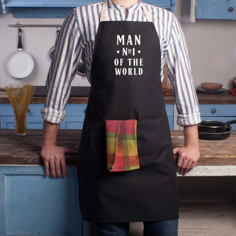Купить Фартук Man №1 of the world оригинальный подарок на день рождения