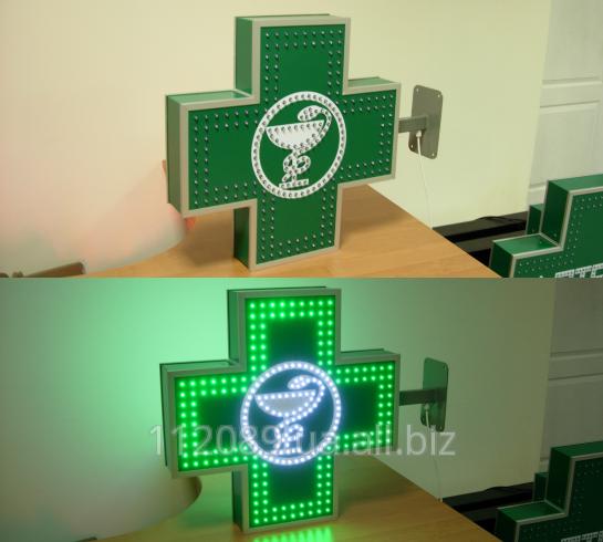 Аптечный крест 600х600 мм с змейкой