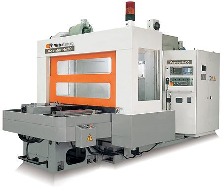 Горизонтальный фрезерный обрабатывающий станок с ЧПУ Victor Vcenter-H630/H1000 Тайвань