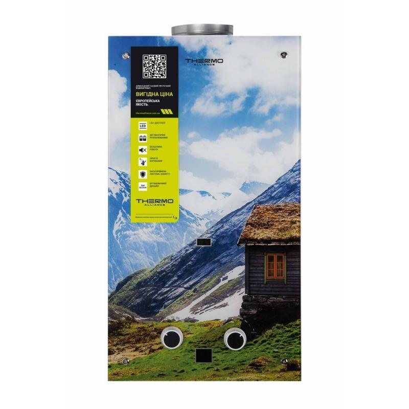 Купить Газовая колонка Thermo Alliance дымоходная JSD20-10GC 10 л стекло (горы)