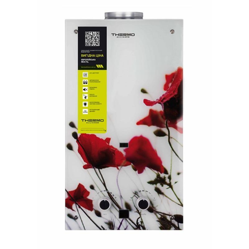 Купить Газовая колонка Thermo Alliance дымоходная JSD20-10GB 10 л стекло (цветок)