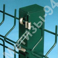 Buy Column for a fence from a profile galvanized pipe with a polymeric covering of 60х40х1,5 mm 2,5 m high