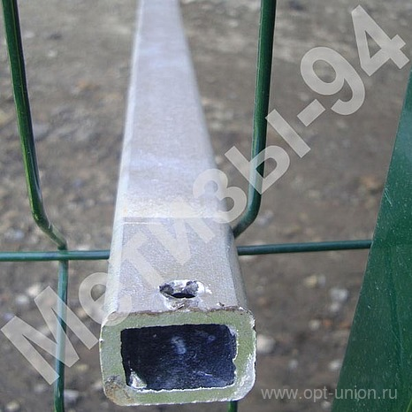 Buy Column for a fence from a profile galvanized pipe of 40х60х2,0 mm 2,0 m high