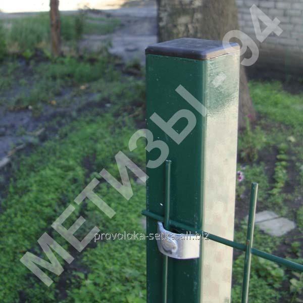 Стовп для паркану з профільної оцинкованої труби з полімерним покриттям 50х50х2 мм висотою 2,0 м