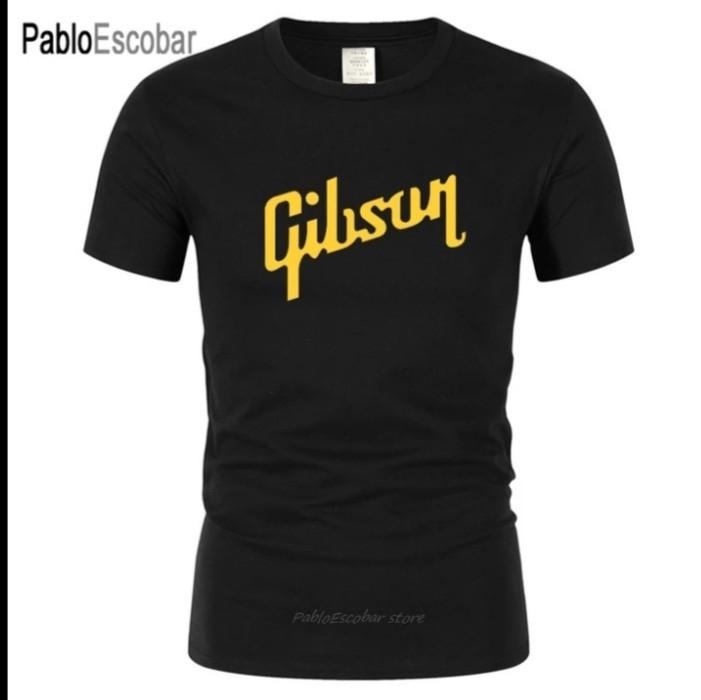 Купить Футболка Gibson Les Paul каттон черная с желтым логотипом
