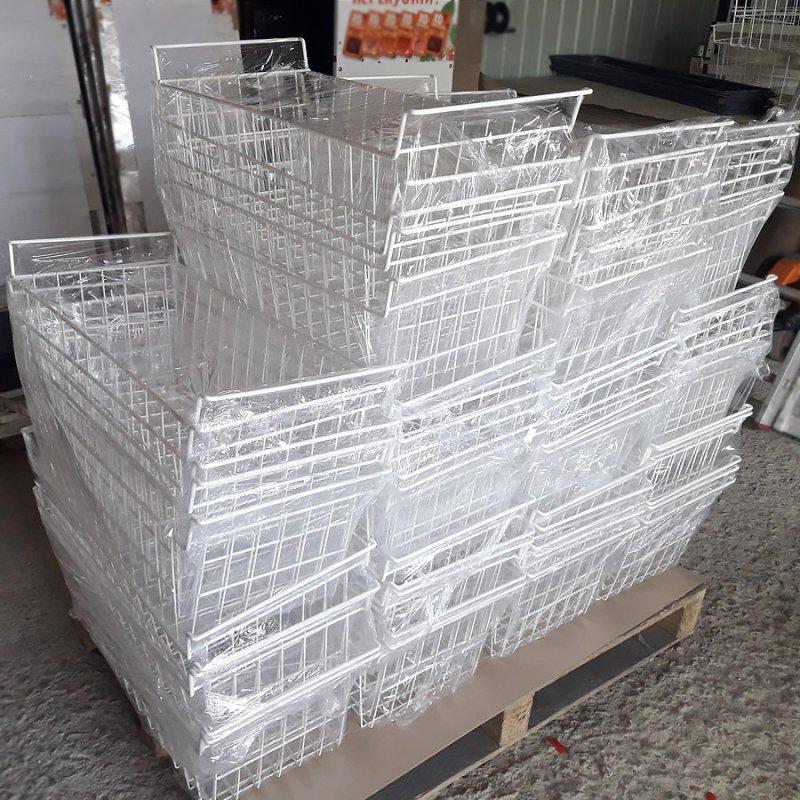 Производство сетчатых корзин из проволоки