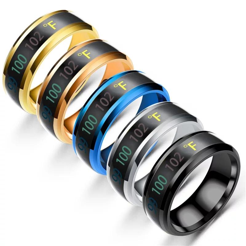 Купить Мужское женское кольцо температурное кольцо бижутерия каблучка