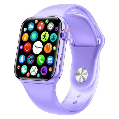 Купить  Apl Watch Series 6 M26 PLUS, люкс копия , 44mm Aluminium, беспроводная зарядка, purple