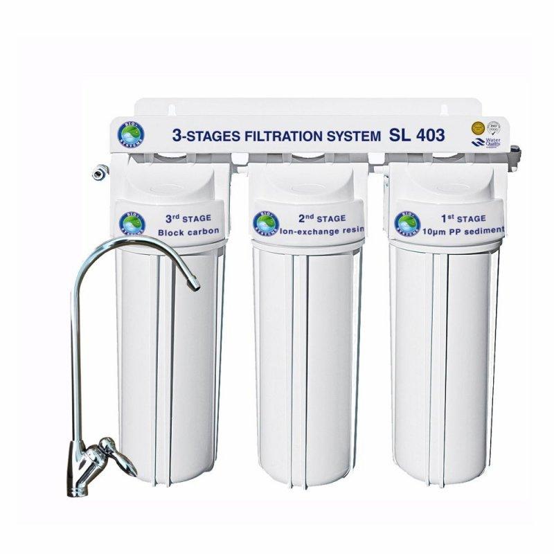 Купить Система 3-х ступенчатой очистки Bio+ systems (очистка+умягчение) SL403 -NEW + монокран