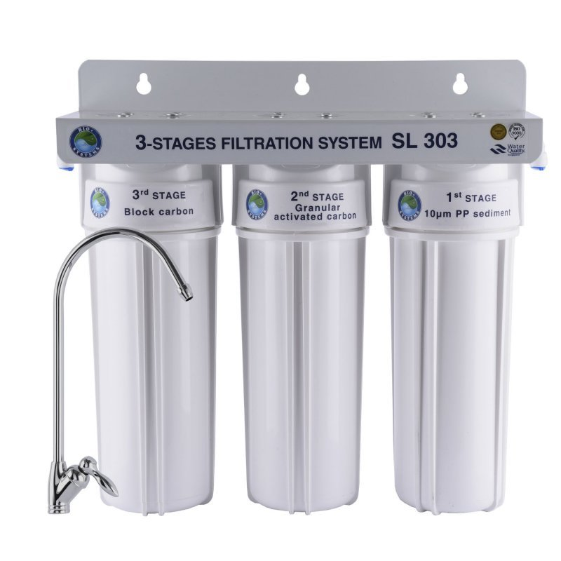 Купить Система 3-х ступенчатой очистки Bio+ systems SL303-NEW + монокран