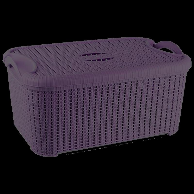 Купить Корзина с крышкой Flexi 10 л тёмно-фиолетовая