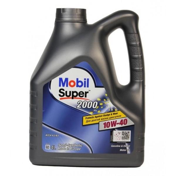 Купить Моторное масло Mobil Super 2000 X1 10W-40 4 л Полусинтетическое