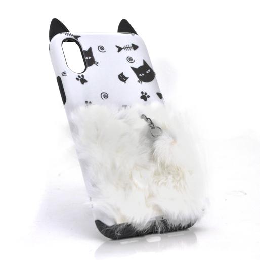 Купить Накладка Кот пушистый хвост (смарт кольцо) iPhone 7 Plus/8 Plus