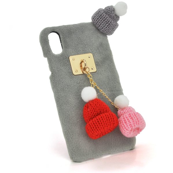Купить Накладка Пушистая Шапки iPhone 7 Plus/8 Plus
