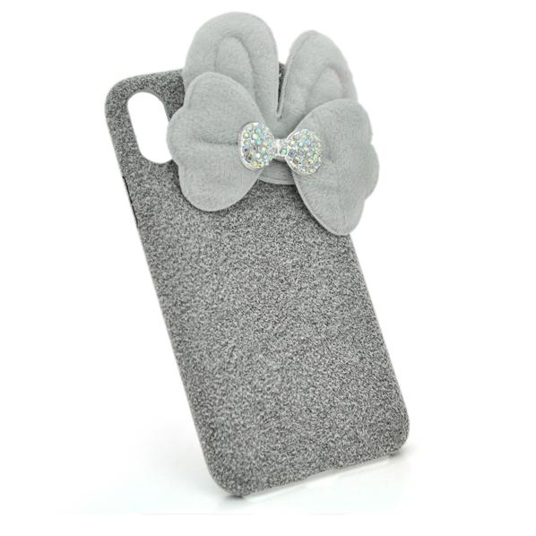 Купить Накладка Пушистая Бантик iPhone 7 Plus/8 Plus