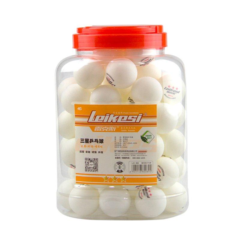 Купить Набір кульок Leikesi для настільного тенісу 40mm, 60 штук в упаковці, White