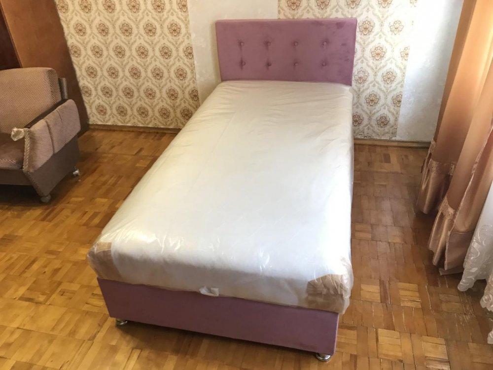 Купить Кровать Камила с Матрасом Подьемным механизмом 100*200 (Ткань)