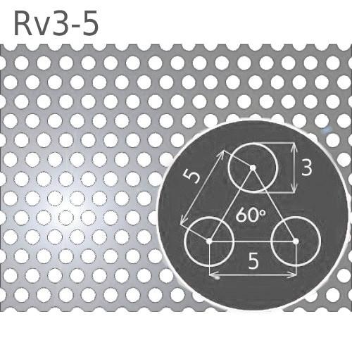 Купить Перфорированный лист Rv3-5/2.0/1000х2000