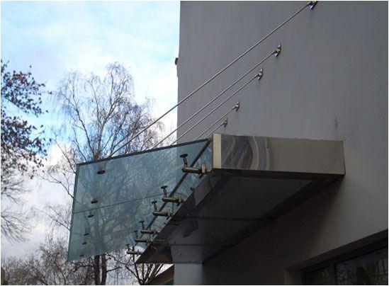Козырьки стеклянные, Одесса купить   Конструкция из стекла