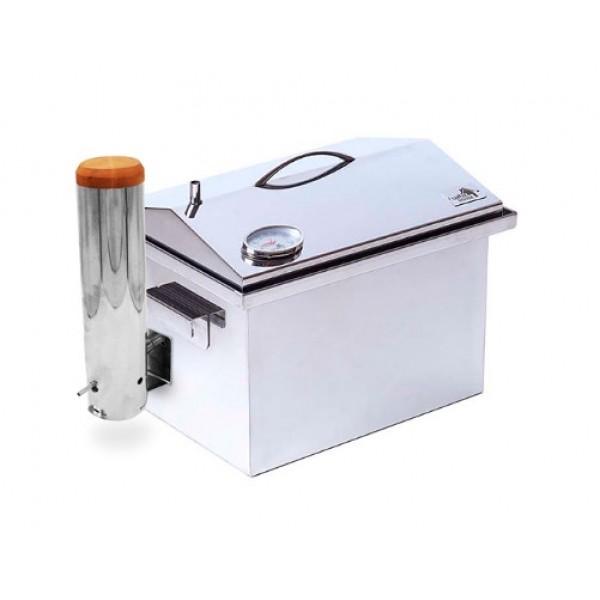 Купить Коптильня из нержавейки с термометром и дымогенератором 400х300х310