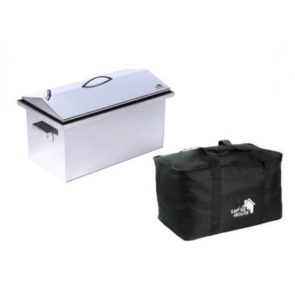 Купить Коптильня горячего копчения с гидрозатвором 520х300х310 с сумкой