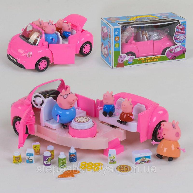 Купить Машина Семья Свинка Пепа YM 11-803, трансформируется, свет, звук, с аксессуарами