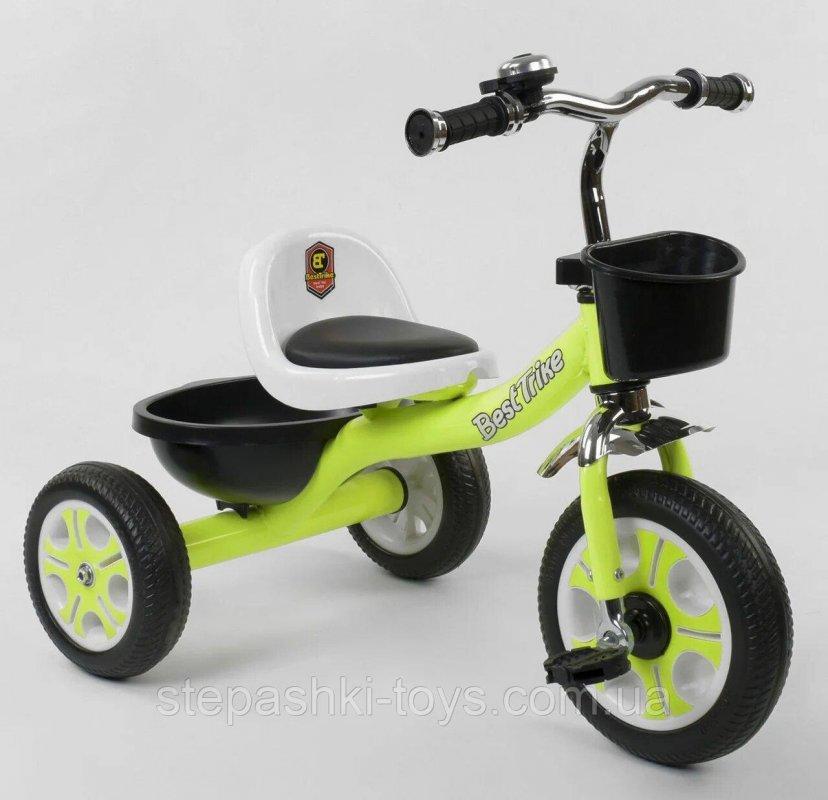Купить Детский трёхколёсный 3-х колёсный велосипед LM-3109 Best Trike Пенорезина, металлическая рама,