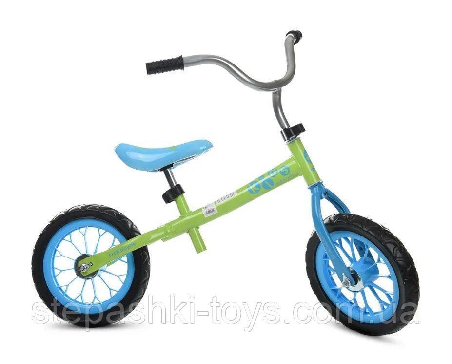 Купить Дитячий Беговел Profi Kids M 3255-4 Салатово-блакитний на 2 роки