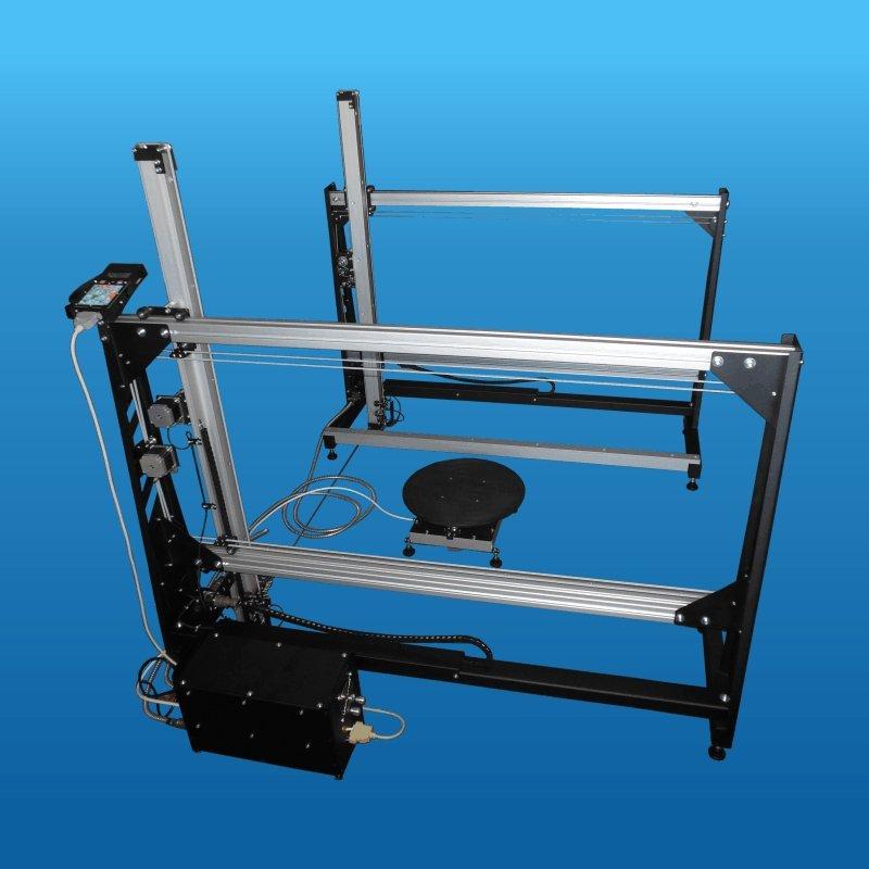 Купити Верстат зі ЧПУ для різання пінопласту з робітником полем 1100х1100мм і довжиною струни 500...2000мм і поворотним столом