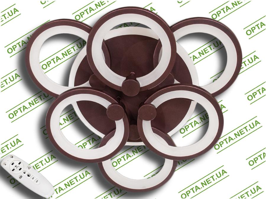 Купить Светодиодная люстра 8022/3+3BK LED 3color dimmer (Черный) 115W