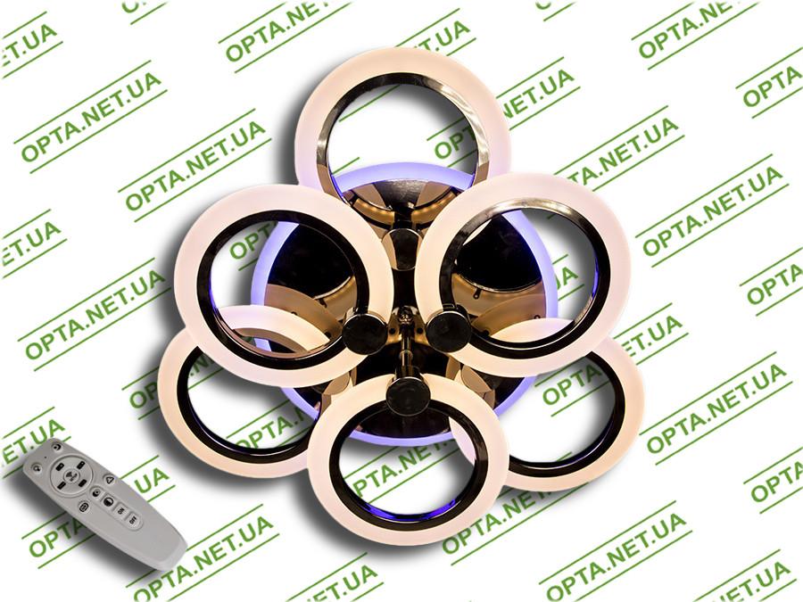 Купить Светодиодная люстра A8022/3+3BHR LED 3color dimmer (Чёрный хром) 85W