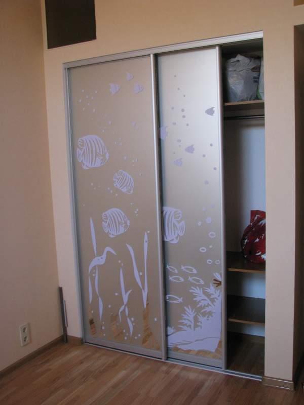 Двери стеклянные для шкафа