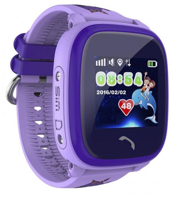 Купить Детские умные часы-телефон с GPS трекером водонепроницаемые Smart Watch Aqua Q300-DF Фиолетовые