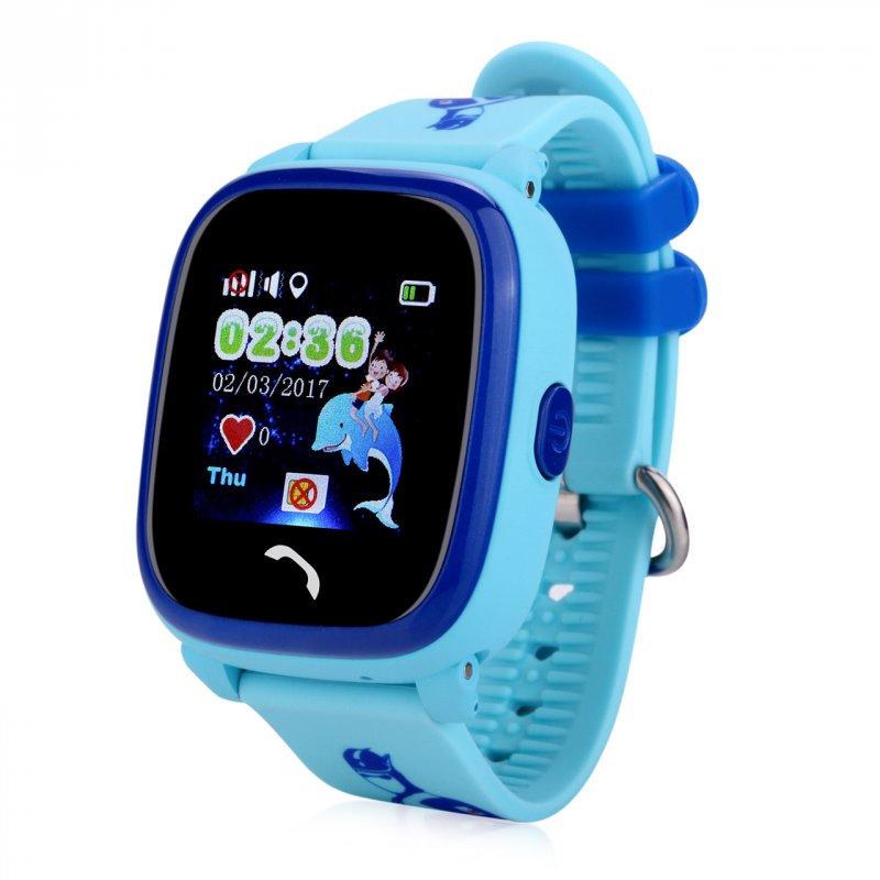 Купить Детские умные часы-телефон с GPS трекером водонепроницаемые Smart Watch Aqua Q300-DF Голубые