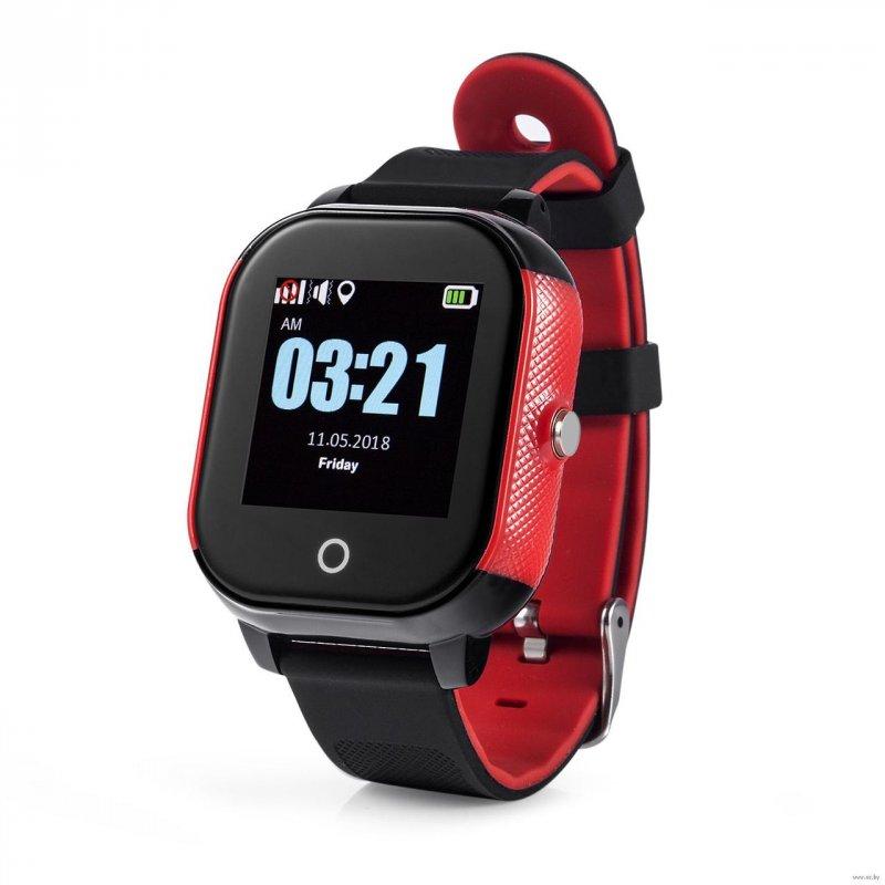 Купить Детские смарт-часы Lemfo DF50 Ellipse Aqua с GPS трекером Черно-красный (swjetdf50blre)