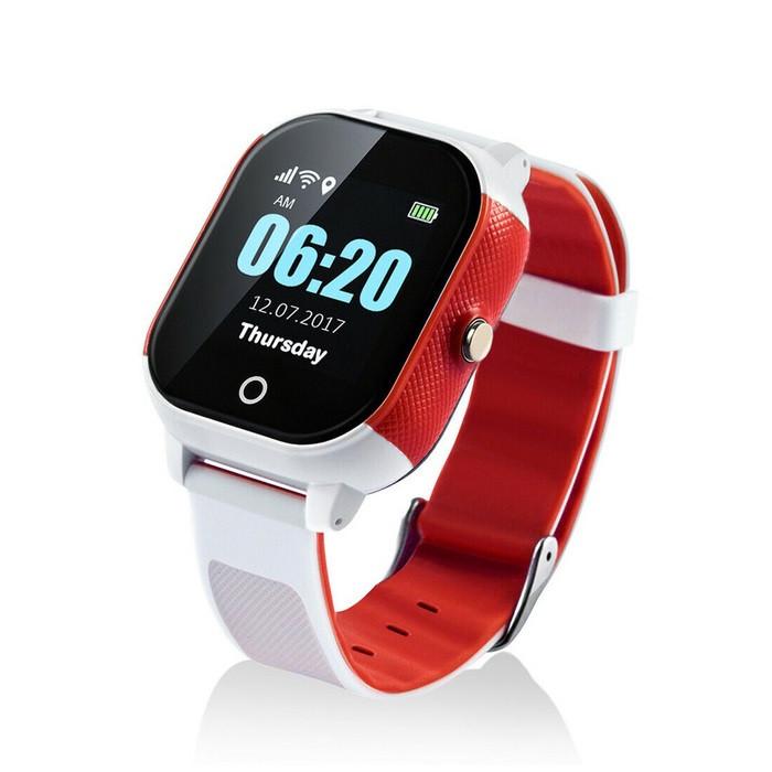 Купить Детские смарт-часы Lemfo DF50 Ellipse Aqua с GPS трекером Бело-красный (swjetdf50whre)
