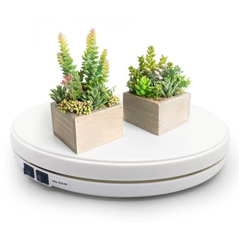 Купить Автоматичний поворотний стіл Heonyirry C250, для предметної зйомки 3D з підсвічуванням , діаметр 25 см, білий
