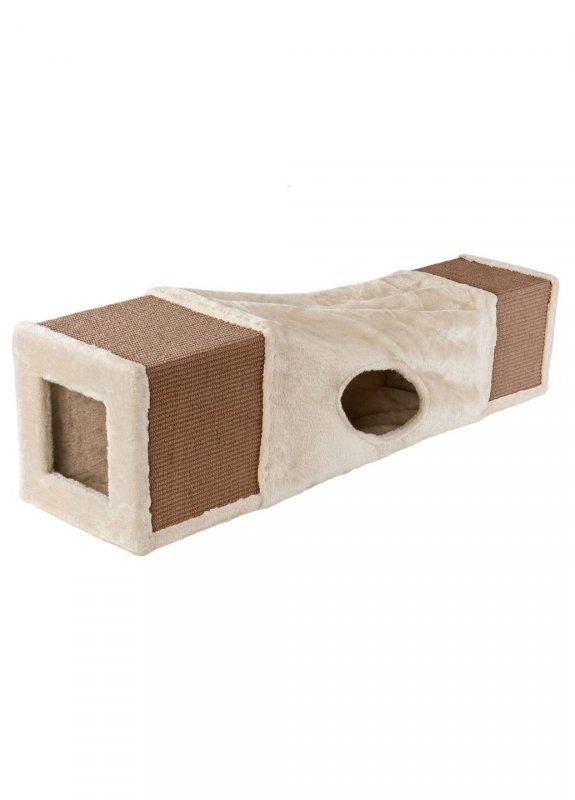 Купить Туннель для кошек Zoofari бежевый-коричневый LI-110066