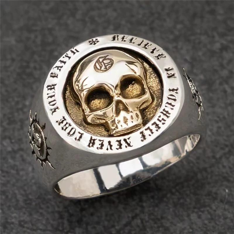 Купить Мужское женское кольцо бижутерия череп каблучка унисекс череп