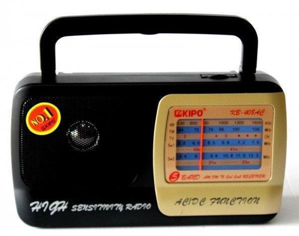 Купить Портативный радиоприемник на батарейках KIPO KB-408AC, Fm радиоприемник от сети и батареек, Fm радио
