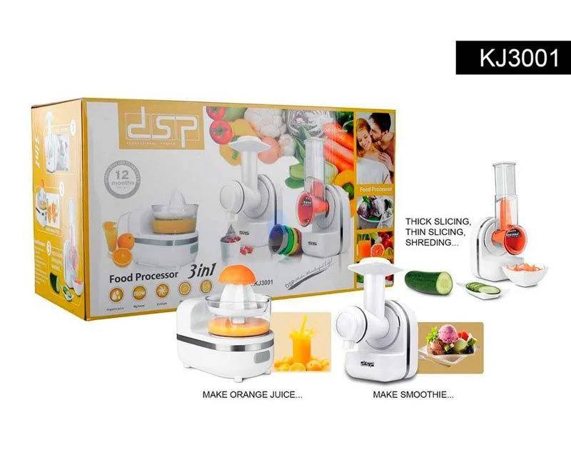 Купить Кухонный комбайн 3 в 1: нарезка, смузи, десерт DSP KJ 3001 (овощерезка , терка, соковыжималка)